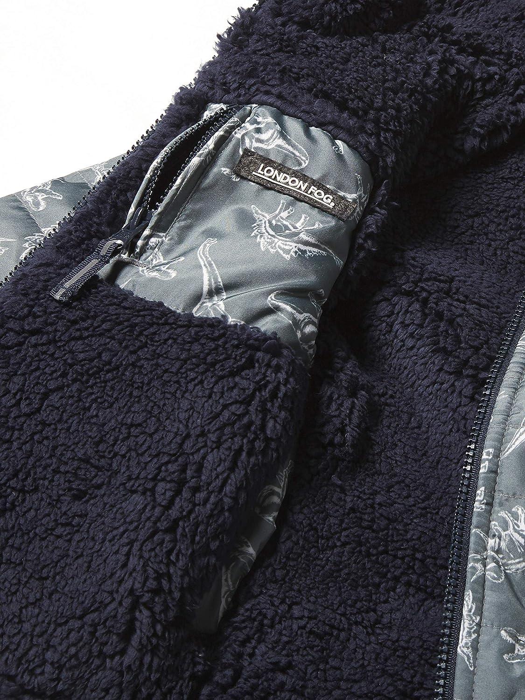 Grey Print Reversible LONDON FOG Boys Little Fleece-to-Poly Jacket 2T