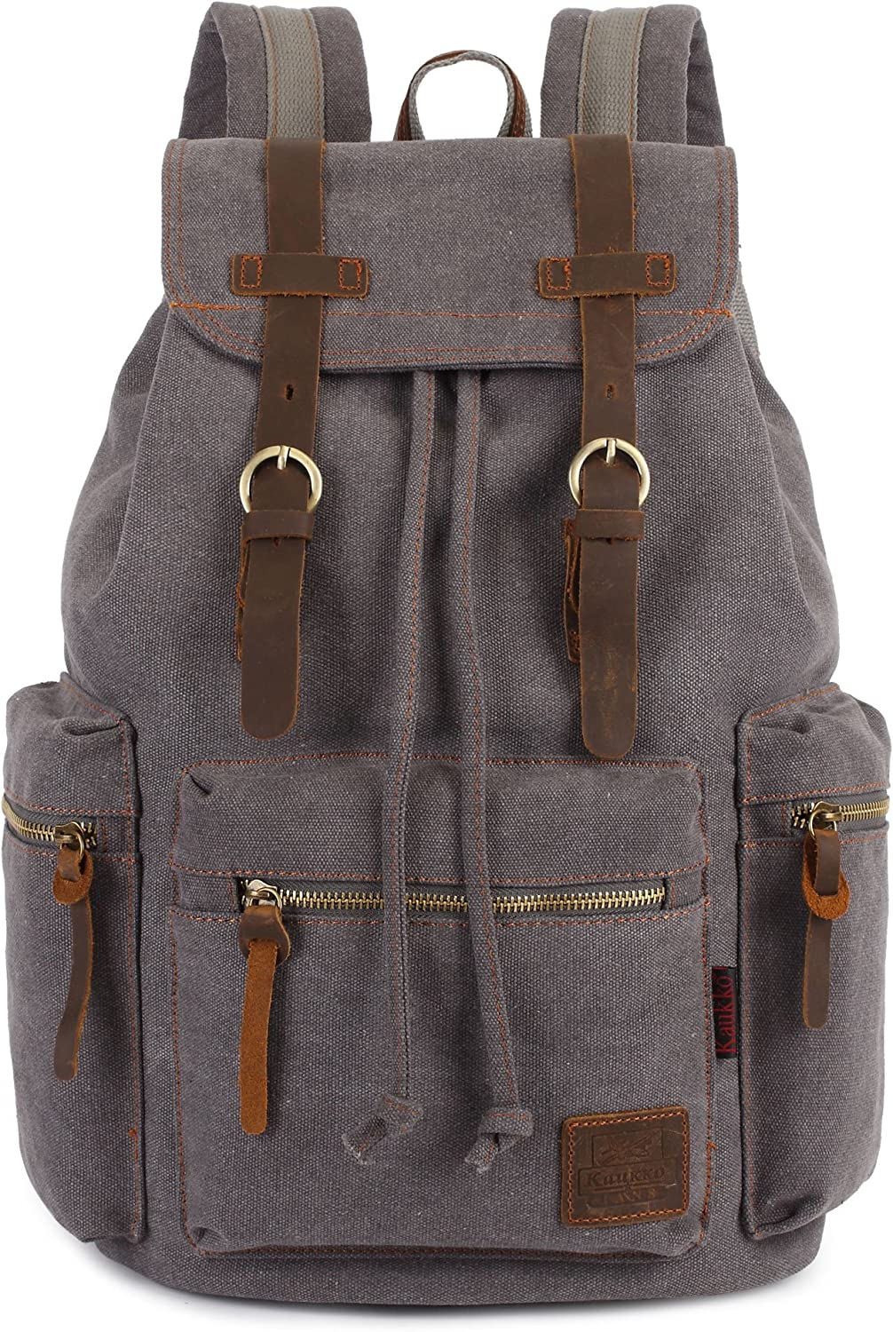 Leaper Vintage Canvas Backpack Casual Rucksack
