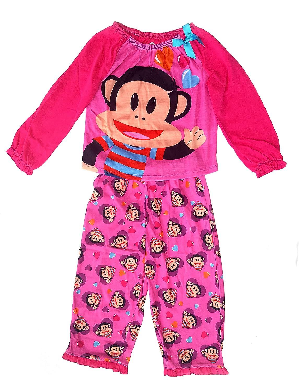 3T Paul Frank Julius Jr Toddler Pink Poly Long Sleeves Pajamas