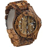 Maui Kool Wooden Watch Lahaina Collection For Men Women Unisex Analog Wood Watch Bamboo Gift Box