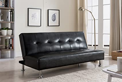 Amazon.com: Kings marca Muebles Negro Klik Klak Convertible ...