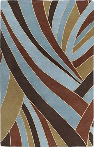 Surya Forum FM-7002 Hand Tufted 100 Wool Russet 9 9 Square Area Rug