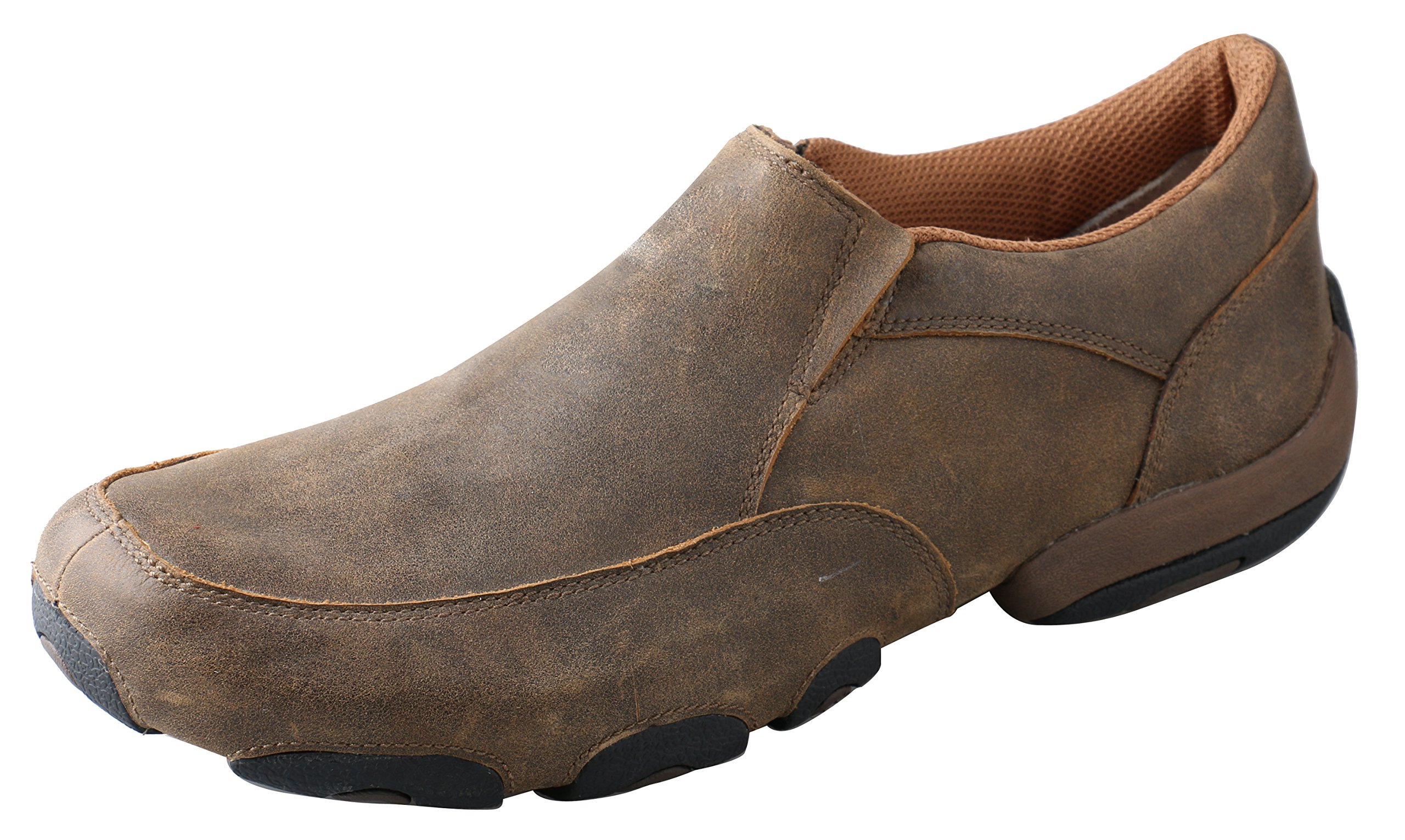 Twisted X Men's Slip-On Driving Moccasins Bomber/Bomber - Casual Walking Leather Footwear 14EE US