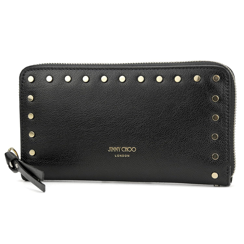 ジミーチュウ(JIMMY CHOO) 長財布(ラウンドファスナー) PIPPA REK ピッパ ブラック 黒 [並行輸入品] B07B1T7S6S