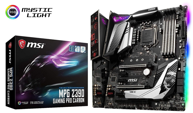 MSI MPG Pro Carbon LGA1151ATX Z390 Gaming Motherboard Z390GPCAR MSI COMPUTER