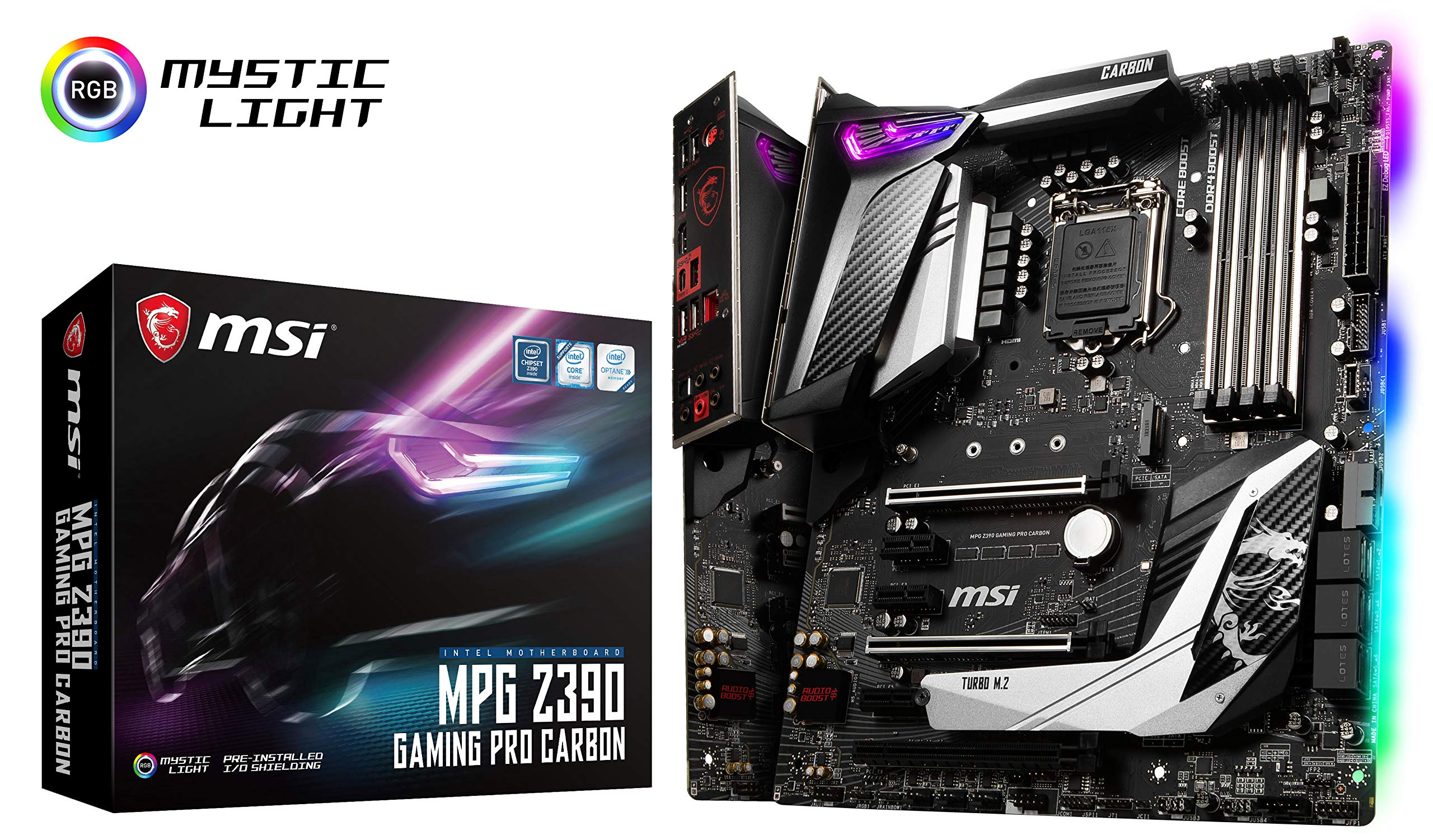 MSI MPG Z390 Gaming PRO Carbon LGA1151 (Intel 8th and 9th...