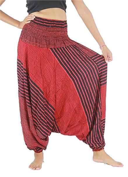 d21995f23 NaLuck Pantalones hippies para mujer, cintura elástica, pantalones ...
