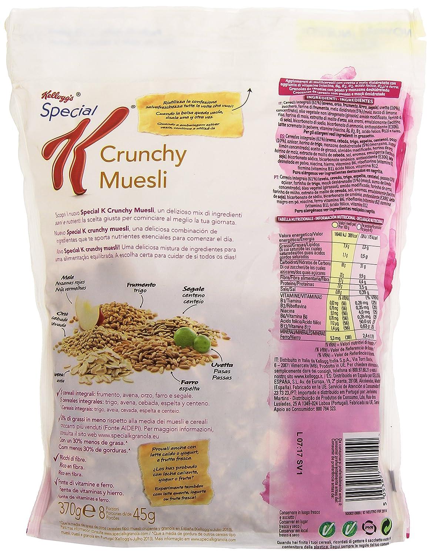 Kelloggs - Special Crunchy Muesli - Cereales con manzana y pasas - 370 g: Amazon.es: Alimentación y bebidas