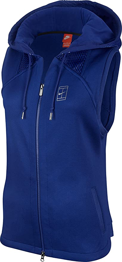 e93c14090410 Image Unavailable. Image not available for. Color  NIKE Women s Court  Hooded Sleeveless Vest ...