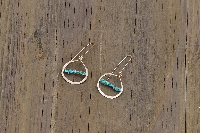 Alyssandra Turquoise Hoop Earrings