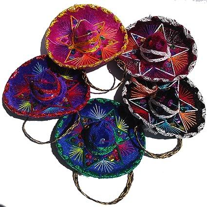 b5f40c2beda68 Mini Sombreros mexicana - Charro estilo 5 Pack - 12