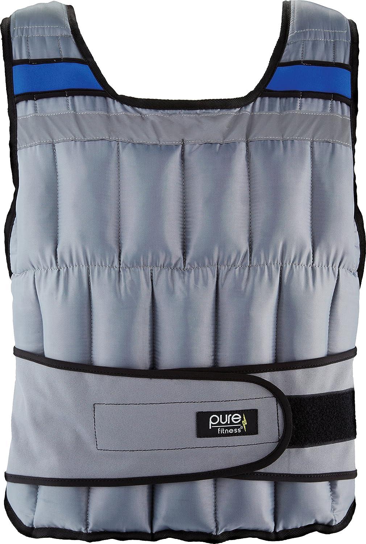 Pure Fitness調節可能な加重練習/トレーニングベスト、フリーサイズ(20、40ポンド 40-Pound