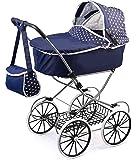 Bayer Design 1215100 - Puppenwagen Classic Deluxe für Puppen, 46 cm, blau
