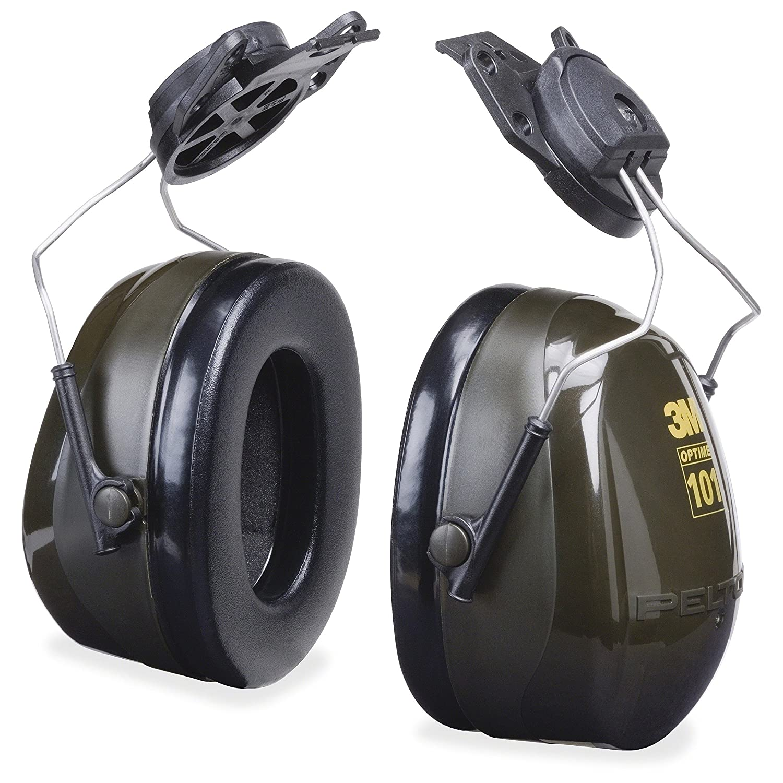 3M Peltor Optime 101 Helmet Attachable Earmuff, Hearing Protection, Ear Protectors, NRR 24 dB