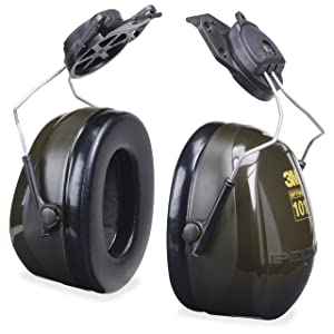 3M Peltor Optime 101 Helmet Attachable Earmuff, Hearing Protection, Ear Protectors, NRR 24 dB