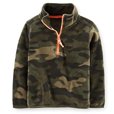 Amazon.com: Carter's Boys Fleece Half Zip Pullover (Camo, 4Kids ...