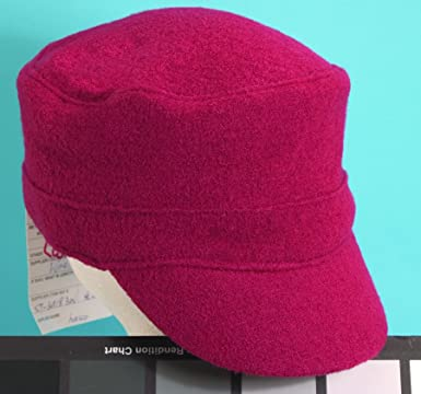 4b56f6bc5a91f SCALA Boiled Wool Military Cadet Cap Hat (Burgundy) at Amazon Women s  Clothing store