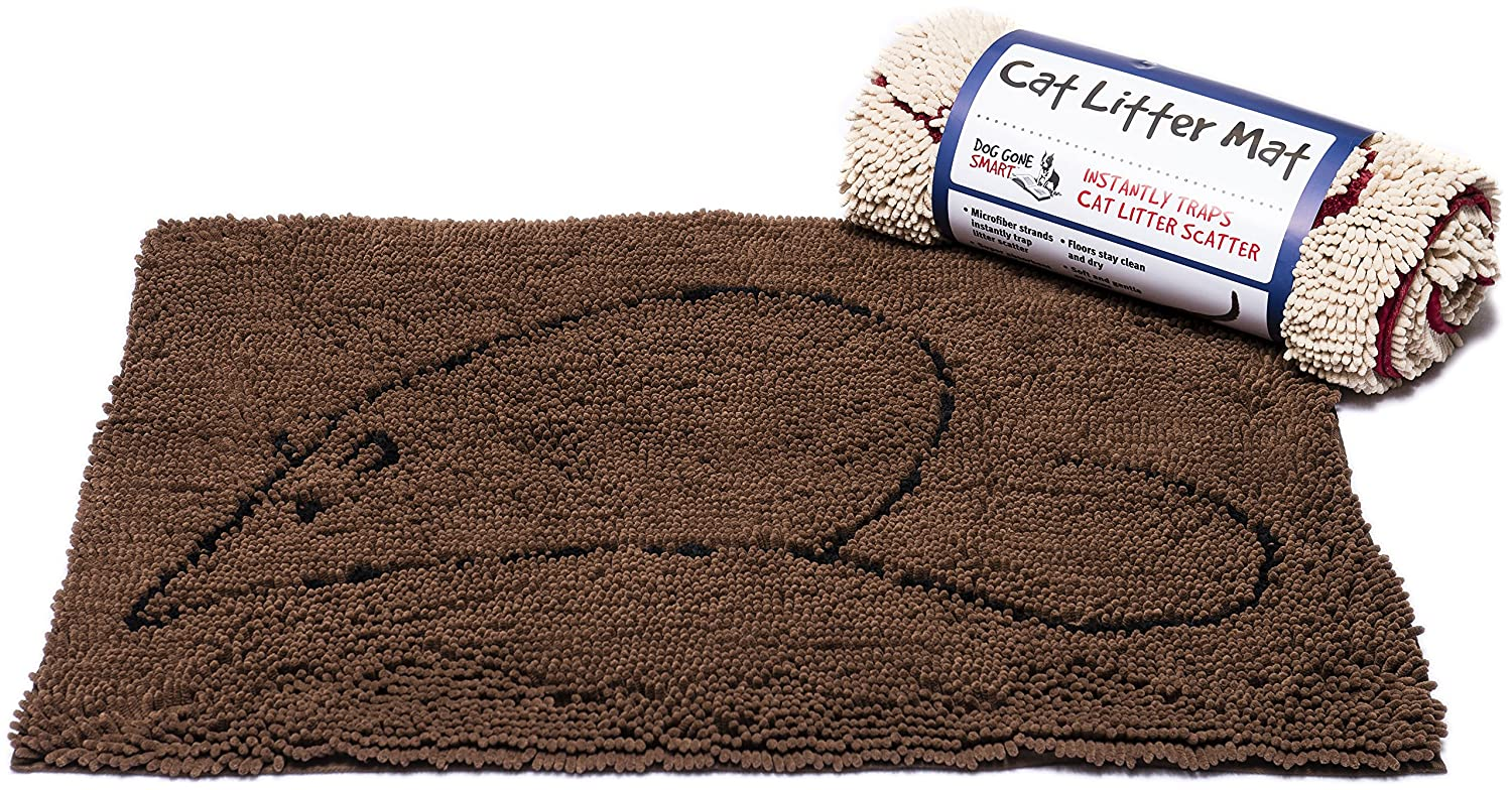 Brown 35 by 26 Inches Brown 35 by 26 Inches Dog Gone Smart Cat Litter Mat, 35-in by 26-in, Brown