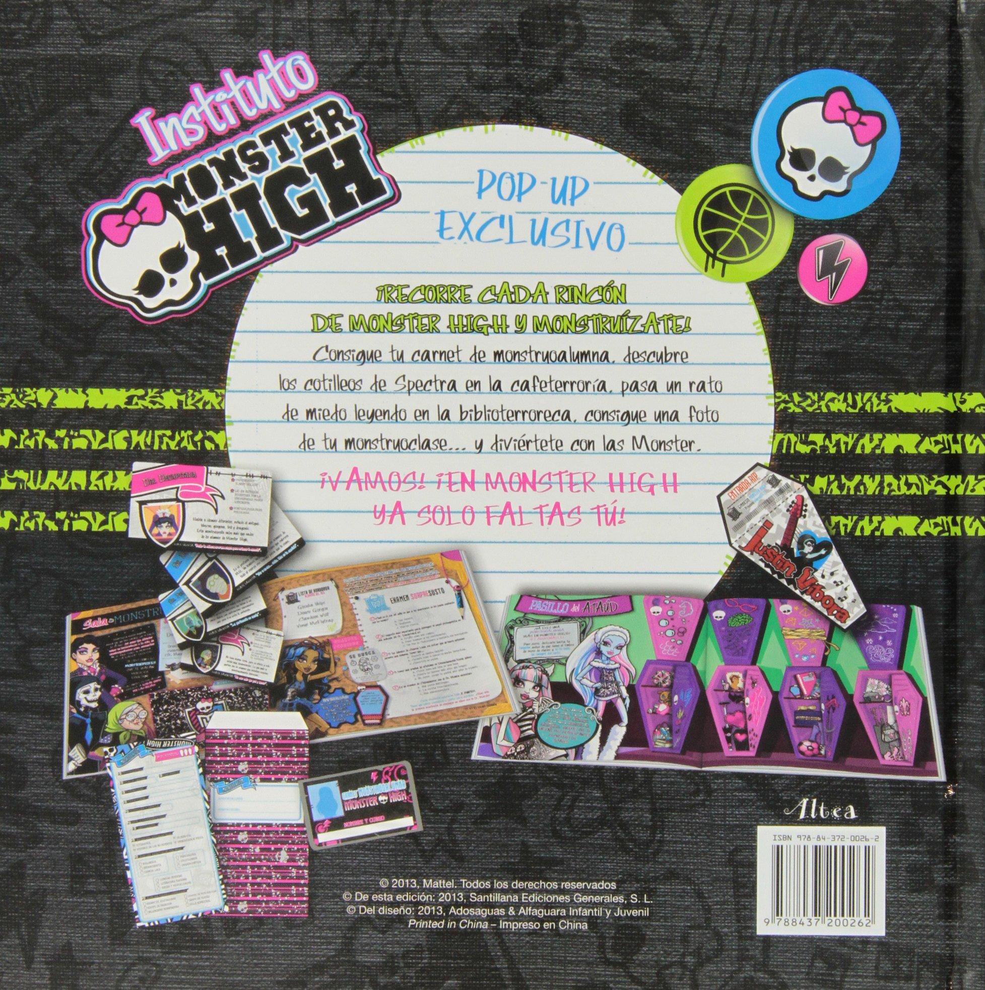 Instituto Monster High (Libro Pop-Up): Varios: 9788437200262 ...