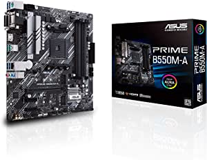 ASUS Prime B550M-A/CSM AMD AM4 (3rd Gen Ryzen microATX Commercial Motherboard (PCIe 4.0, ECC Memory, 1Gb LAN, HDMI 2.1/D-Sub, 4K@60HZ, TPM, ASUS Control Center Express)