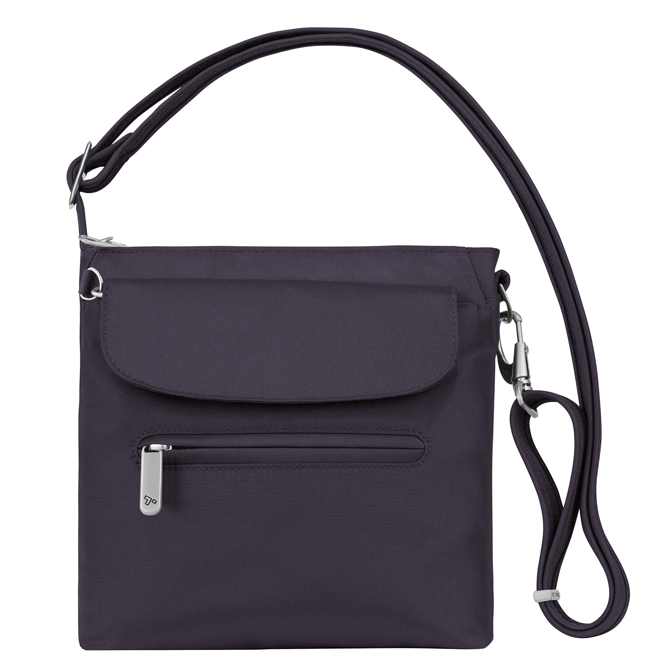 Travelon Women's Anti-Theft Classic Mini Shoulder Bag Sling Tote, Purple, One Size by Travelon