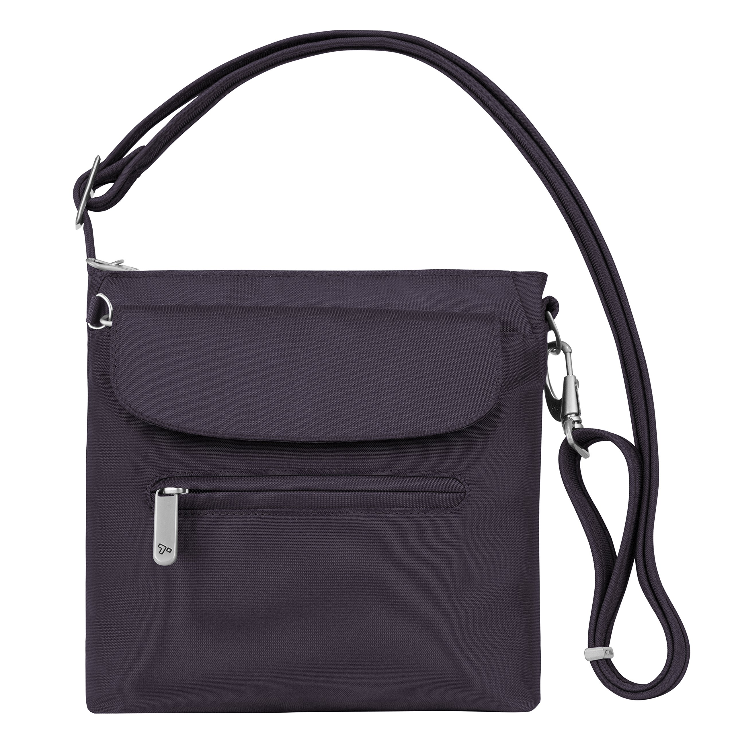 Travelon Women's Anti-Theft Classic Mini Shoulder Bag Sling Tote, Purple, One Size by Travelon