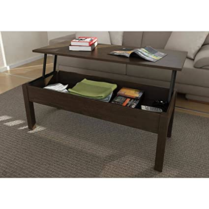 Expresso Coffee Table.Amazon Com Lift Top Coffee Table Innovative Espresso Coffee Table