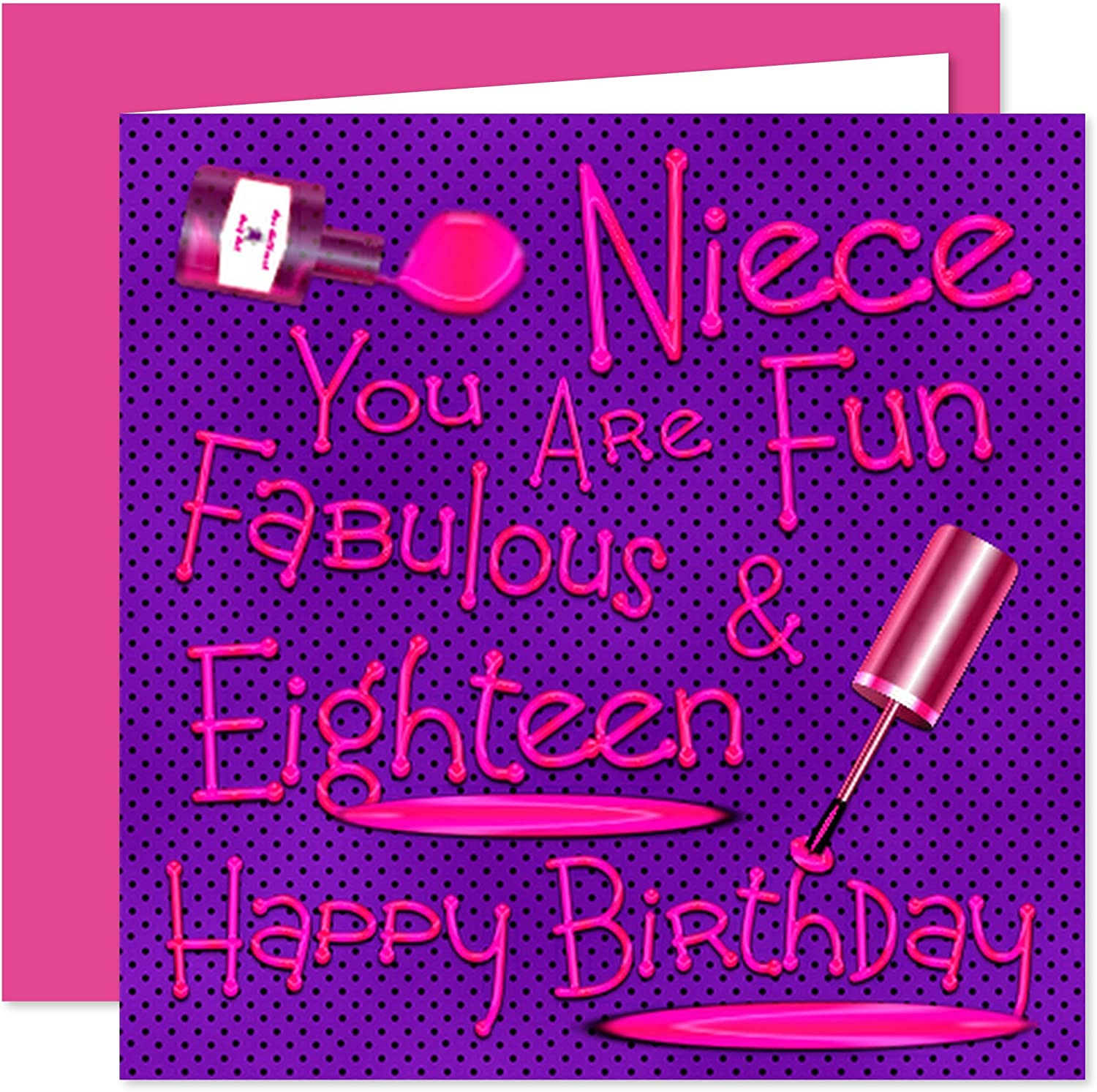 Super Niece 18Th Happy Birthday Card Naughty Nails Fun Design 18 Funny Birthday Cards Online Fluifree Goldxyz