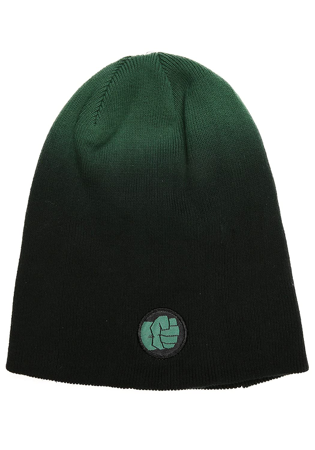 98540b26f01 Amazon.com  FunComInc Marvel Hulk Dip Dyed Slouch Knit Men s Winter Hat -  ST  Sports   Outdoors