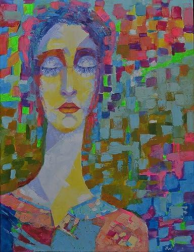 Amazon Com Woman Female Figure Oil Painting Head Face