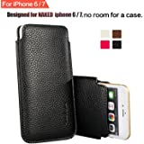 """Apple iPhone SE 2020 / iPhone 6 / iPhone 6S / iPhone 7 / iPhone 8 4.7"""" Phone Sleeve , Elastic Pull Strap , PU Leather Protect"""