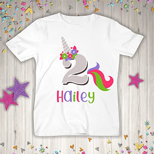 Amazon Personalized Unicorn Birthday Shirt Or Bodysuit