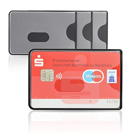 WallTrust RFID NFC Funda Protectora para Tarjetas de crédito ...