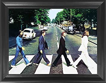 The Beatles Abbey Road Framed 3D Lenticular Poster