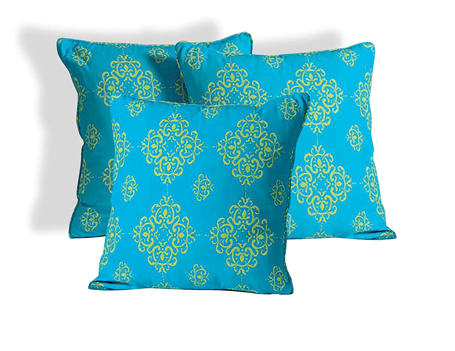 Tremendous Buy Shalinindia Spring Decor Floral Print Turquoise Colour Ncnpc Chair Design For Home Ncnpcorg