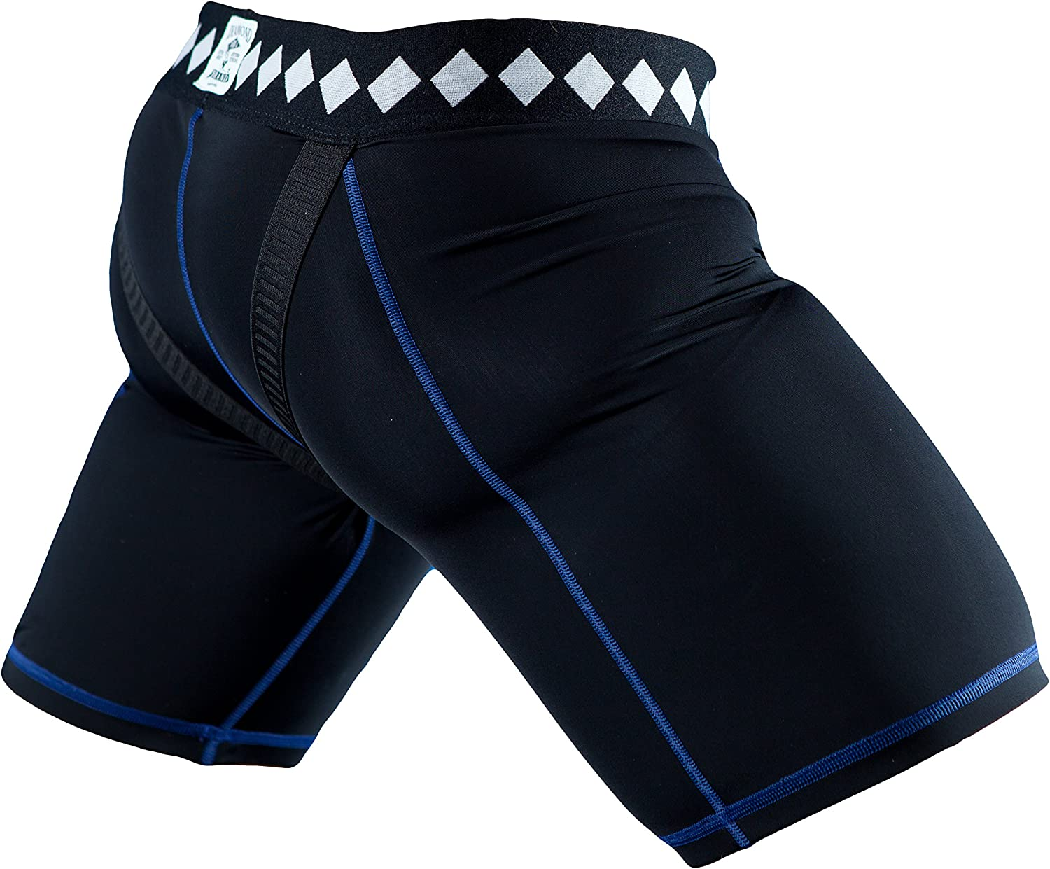 Diamond MMA Compression Shorts with Built In 4-Strap Jock