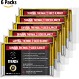 "Emergency Authentic Mylar Thermal Blankets (Large 63""x82"") Designed for NASA - Perfect for First Aid Kit, Bug Out Bag, Survival, Hiking, Auto, or Outdoors (6 Packs / 12 Packs Set)"