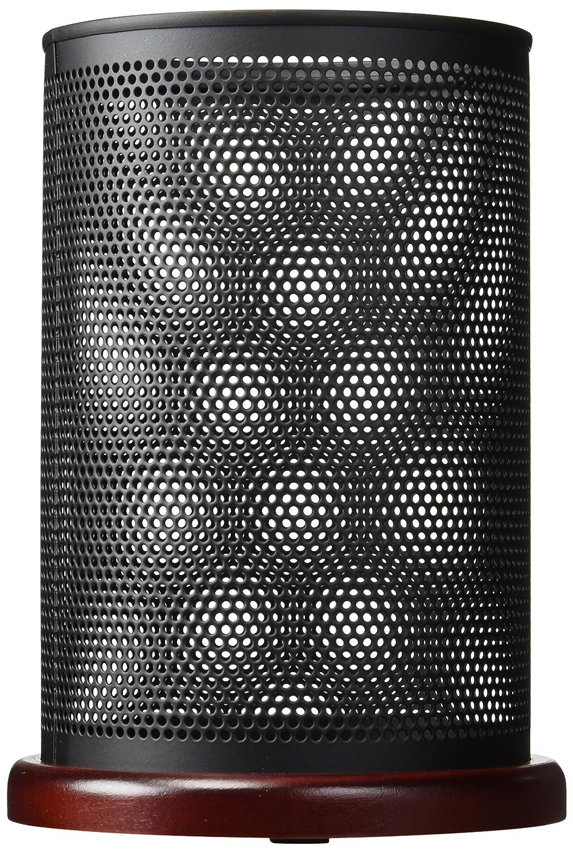 "Rolodex Distinctions Jumbo Metal & Wood Pencil Cup, 4-1/2"" Diameter x 6-1/2"", Black/Cherry (1813859)"