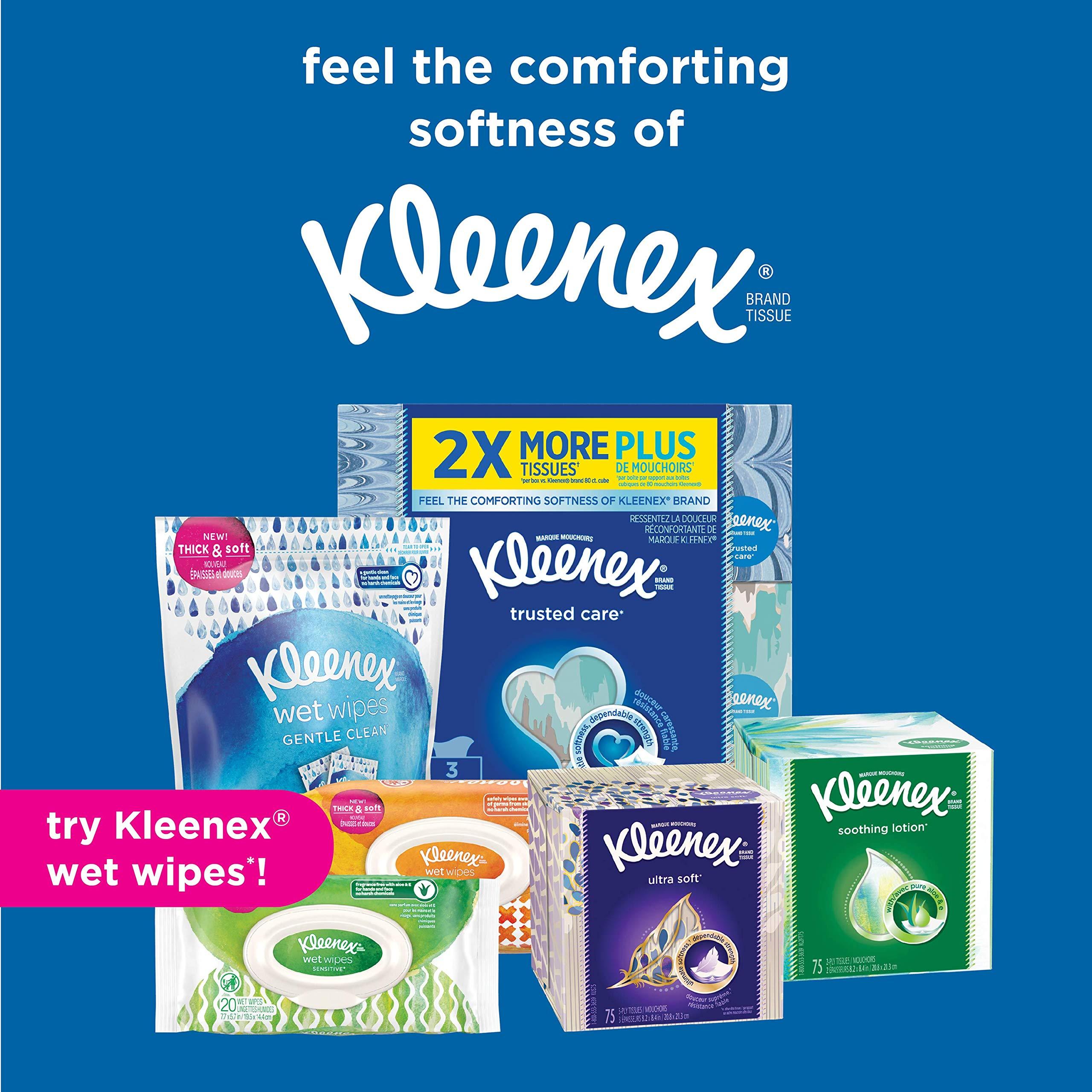 Kleenex Lotion Facial Tissues with Aloe & Vitamin E, Cube Box, 75 Tissues per Cube Box, 18 Packs by Kleenex (Image #7)