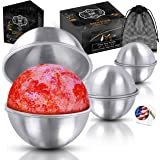 Stainless Steel Bath Bomb Molds Professional Set of 3 Sizes. Heavy Duty Metal, Dent and Rust Proof by Healthy Home Helper.