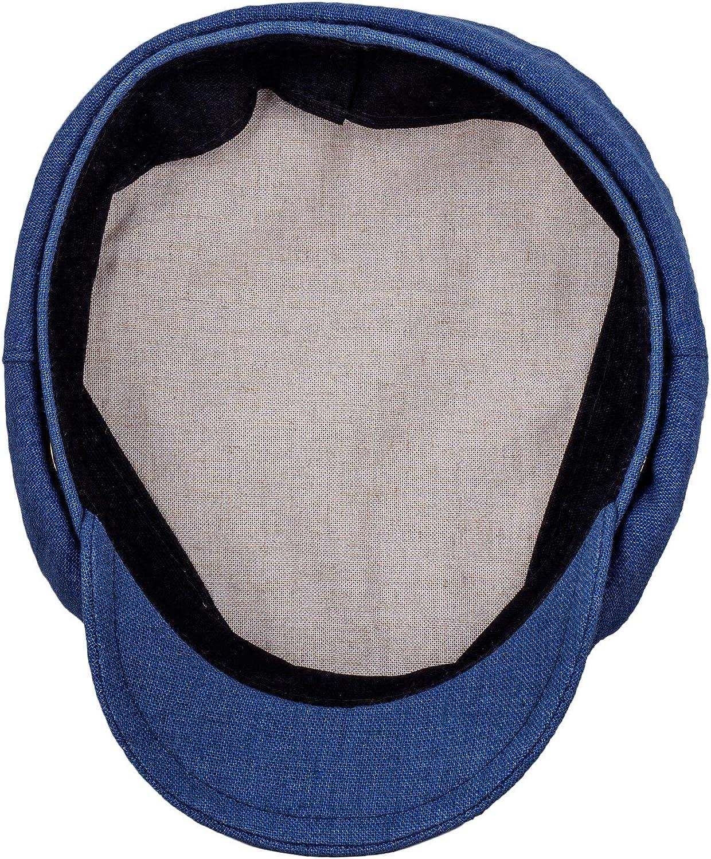 100/% Linen Sailor Hat Summer Lightweight Train Driver Hat Breton Fiddler Hat Sterkowski Pireus Cap