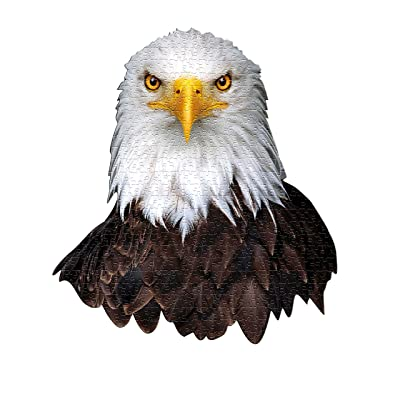 Madd Capp Puzzles - I AM Eagle - 550 Pieces - Animal Shaped Jigsaw Puzzle: Toys & Games