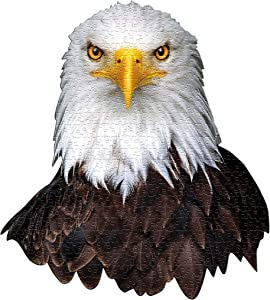 Madd Capp Puzzles - I AM Eagle - 550 Pieces - Animal Shaped Jigsaw Puzzle