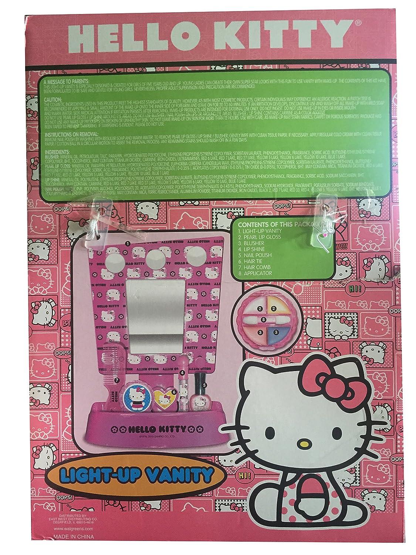 Amazon com  Sanrio Hello Kitty 8 Piece Light Up Vanity Set  Toys   Games. Amazon com  Sanrio Hello Kitty 8 Piece Light Up Vanity Set  Toys