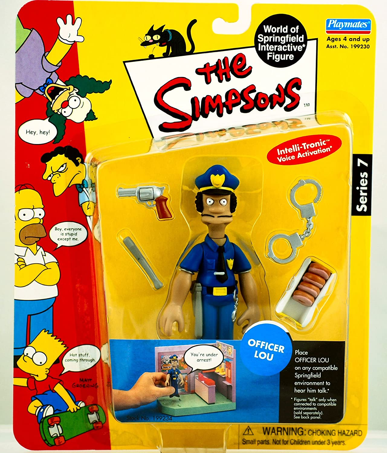 The Simpsons Series 7: Officer Lou Action Figure by Playmates Toys (English Manual)https://amzn.to/34O9Iea