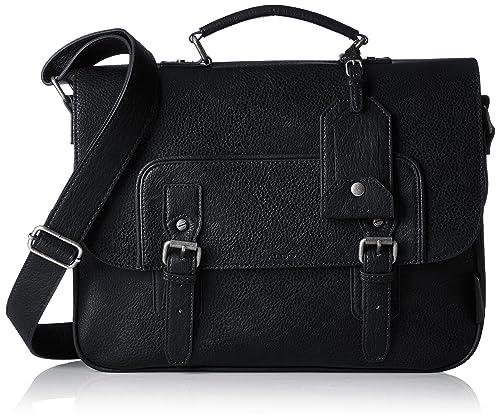 011e2b66639 Aldo Mens Norman Laptop Bag Black (Black)  Amazon.co.uk  Shoes   Bags