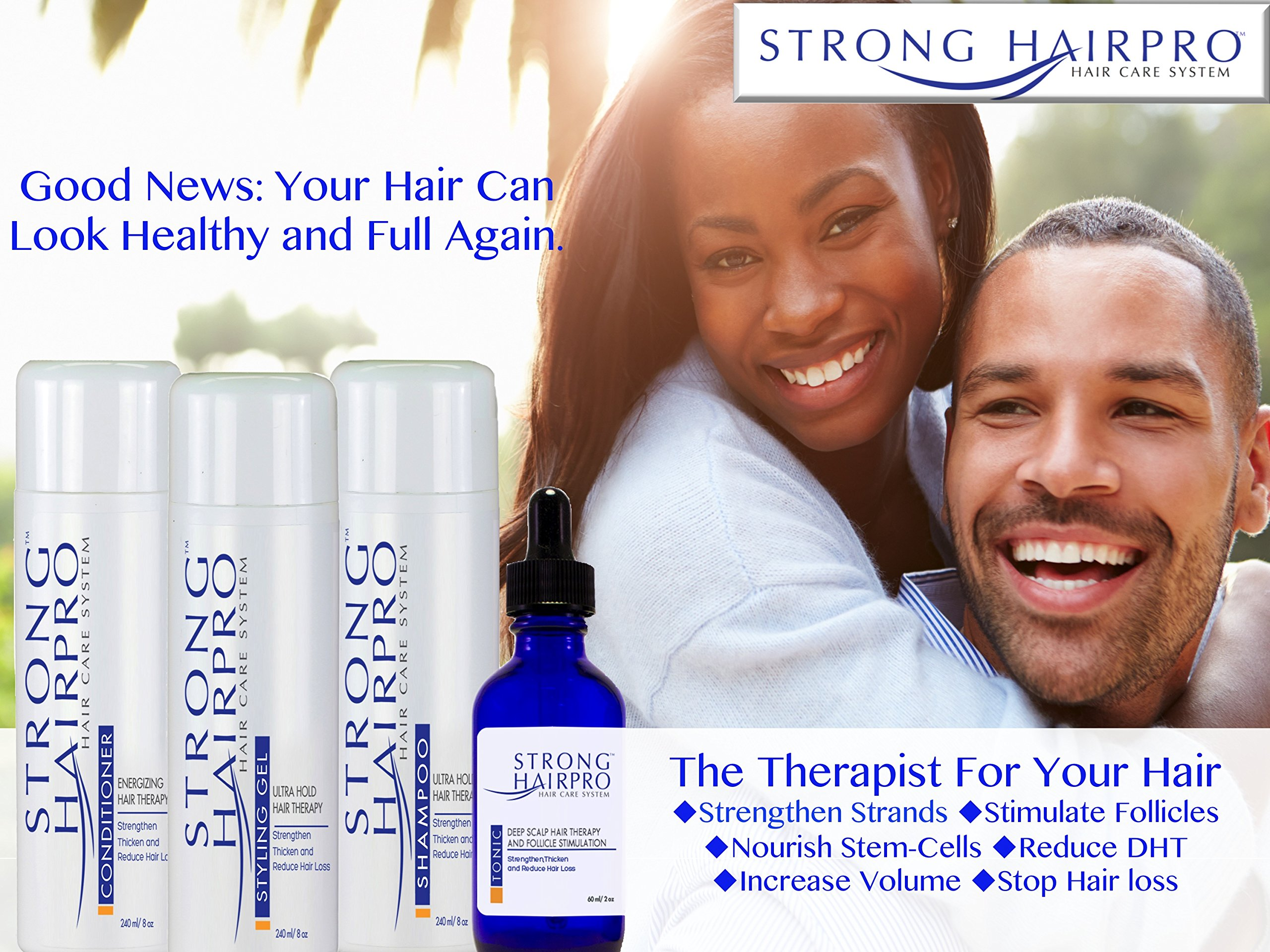 Strong HairPro New Hair Strengthening and Growth Stimulating Peptide Shampoo for Hair Loss Prevention with Caffeine, 8 Fluid Ounce by Strong HairPro (Image #8)