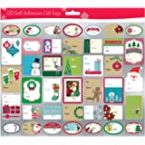 Pack of 120 Self Adhesive Christmas Gift Tags Labels 3 Sheets with 40 Different Designs Xmas Gift Labels