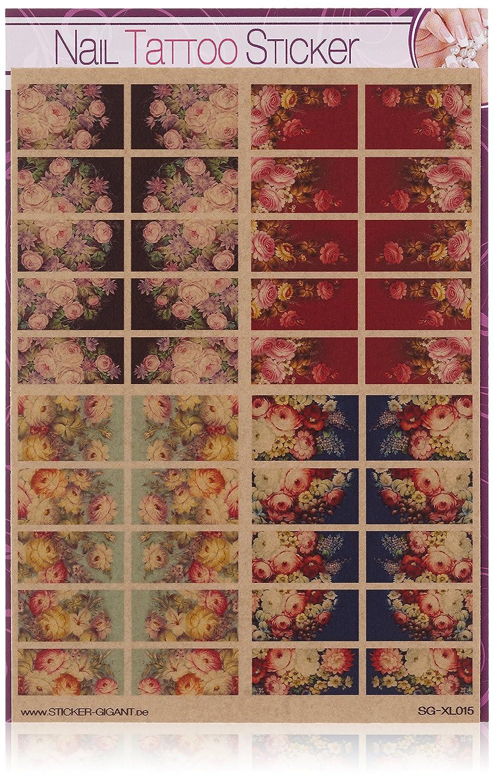 Sticker-Gigant Nailart Nail Tattoo - XL Set Full Cover Zhostovo ...