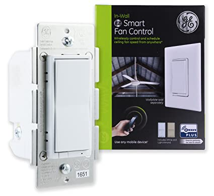 Ge z wave plus smart fan speed control 3 speed in wall controls ge z wave plus smart fan speed control 3 speed in aloadofball Choice Image